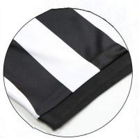 Custom Logo DesignWholesale Black & White Stripe Soccer Referee Shirt