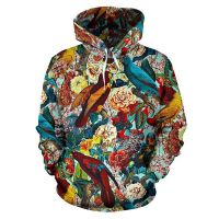 2019 new rose skull pattern 3d sublimation printing hoodies