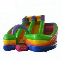 5006362-Rainbow Colorful Inflatable Jumping Bouncer Castle Amusement Park Kids Inflatable Slide