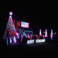 Outdoor Christmas Yard Light Decorations With RGB LED Tapes Lighting
