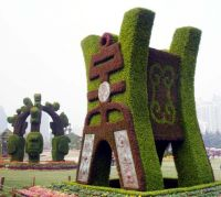 Fire Retardant Artificial Sculpture Plastic Grass Hedeg Statue Animal Shaped Topiary