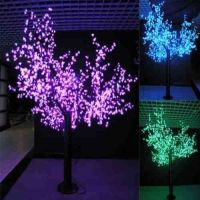 artificial simulation glowing cherry flower tree with built-in LED light