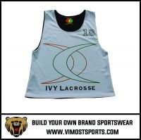 OEM 100% polyester Custom Sublimation Lacrosse reversible pinnies