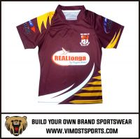 OEM 100% polyester Custom Sublimation Rugby Jersey
