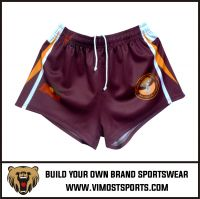 OEM 100% polyester Custom Sublimation Rugby short