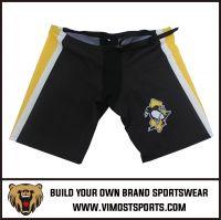 OEM 100% Polyester  Custom Sublimation Ice hockey shorts
