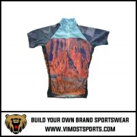 OEM 100% Polyester  Custom Sublimation Cycling Jersey