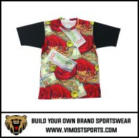 100% Polyester Short Sleeve Sublimation Breathable T-shirt
