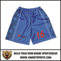 OEM 100% polyester Custom Sublimation Basketball Short