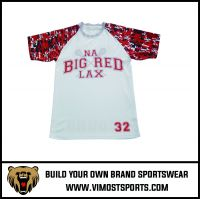 OEM 100% Polyester  Custom Sublimation Lacrosse Shooter Shirt