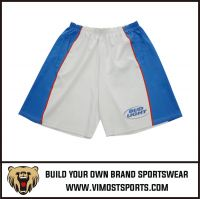 OEM 100% Polyester  Custom Sublimation Lacrosse short