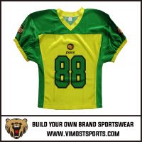 OEM 100% Polyester  Custom Sublimation American Football Jersey