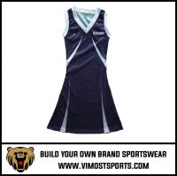 Full Sublimation Printing Customized Logo Netball A-line Dress