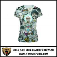 Logo custom sublimation printed women short sleeve T-shirt breathable