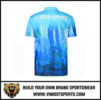 Men's Design Customize Dry Fit Short Sleeve Fishing Shirt
