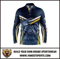 Men's Custom Sublimation Long Sleeve Fishing Shirt