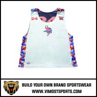 Custom Team LOGO Women Lacrosse reversible pinnies