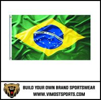Custom Printed Polyester Brazil's Flag OEM