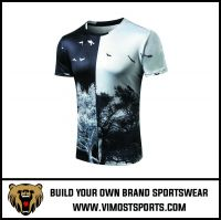 OEM Custom Sublimation Printed sportswear T-shirt
