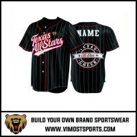 Polyester Custom Sublimation Full Buttons Men Baseball Jersey
