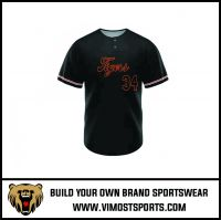 Polyester Custom Sublimation Two Buttons Men Baseball Jersey