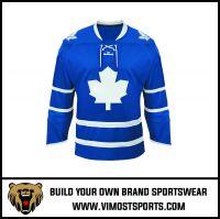 cheap sublimated printing Ice Hockey Jersey with strings Sportswear