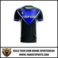Polyester Custom Team Logo Printing E-sport gaming shirts