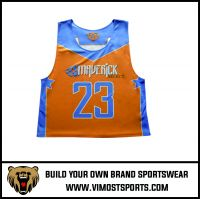 Custom Cheap Breathable Women Lacrosse reversible pinnies suit