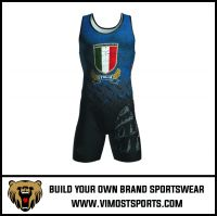 Custom Sublimation printing cheap Men wrestling singlets
