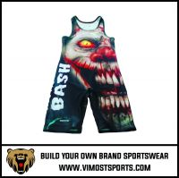 Specialized Custom Sublimation printing cheap wrestling singlets for sale