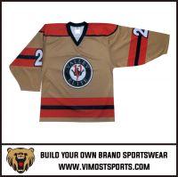 Polyester Custom Style Sublimation Ice Hockey Jersey