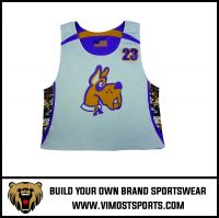 Custom Team LOGO Men Breathable Lacrosse reversible pinnies