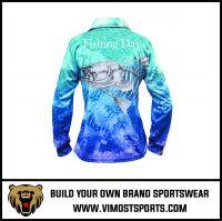 Women Custom Sublimation Long Sleeve Fishing Polo Shirt