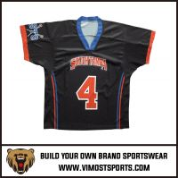 custom dye sublimation quick dry polyester team lacrosse jersey
