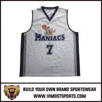 polyester Custom Team Logo Sublimation Basketball Tops