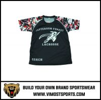 professional design custom lacrosse shooting shirts