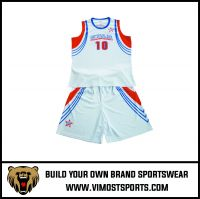 Customized  basketball uniforms 100% polyester