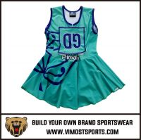 Top quality gril netball dress uniform sports wear   tennis dress