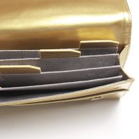 Leather Clutch - Gold