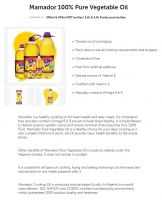Mamador Pure Vegetable Cooking Oil - 3.5 Litres