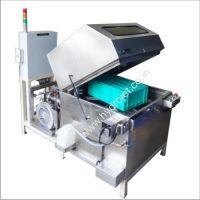 Rotary bin washing machine