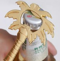 coconut tree bottle opener with golden color
