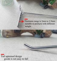 metal chrome supermarket display peg board hook