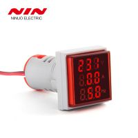 AC 0-100A AC V+A+HZ LED Traid display 22mm square led digital panel voltmeter and ammeter indicator frequency meter