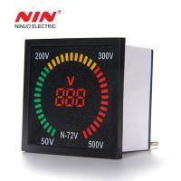 72mm*72mm box shape 220V AC  indicator voltmeter LED digital display 100V volt voltage meter digital indicator