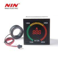 72mm*72mm box shape AC 220V digital led ammeter indicator light lamp with ac ampere meter
