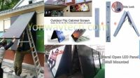 Front Open Led Billboard, Easy Frontal Access For Maintain, Wall Mounted Directly