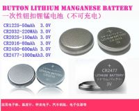 Button Cell Lithium battery CR2032,CR2016,CR2477