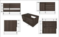Vanity cabinet for hotel, restaurant, home.