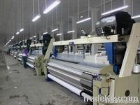 water jet loom with plain